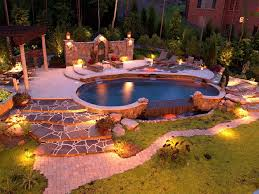 cool garden lighting ideas latest photo gallery with swimming