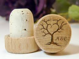 wine stopper wedding favors personalized tree of wedding favor wine stopper laser