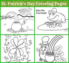 st patrick day coloring pages st patrickus day coloring page kids