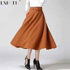 Wool Skirts For Winter Black Wool Skirt Promotion Shop For Promotional Black Wool Skirt
