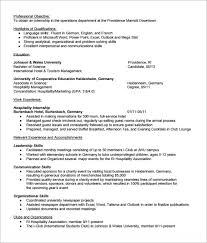 Resume Templates In Ms Word Internship Resume Template 7 Download Free Documents In Pdf Word
