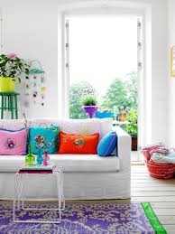 cute living room ideas standing lamp blue plain vertical curtain