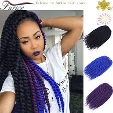 Braid Hair Extensions by Blue Purple Nature Black Braiding Hair Havana Mambo Twist Hair
