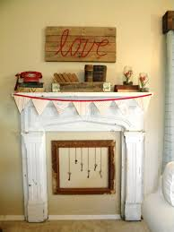decorations wall mounted indoor fireplaces your daily gorgeous fireplace mantel decor for valentines day with paper craft
