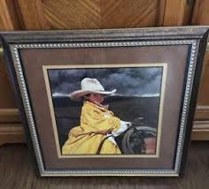 home interior cowboy pictures home interior homco cowboy trench coat ranch boy on a horse picture