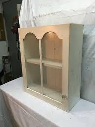 oak kitchen wall cabinet with glass doors primitive wood kitchen curio cabinet shabby cottage wall shelf with glass door ebay