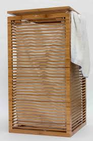 laundry hamper canvas slim open slats design bamboo laundry hamper for the apartment and
