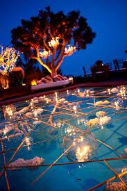backyard pool wedding decorations outdoor wedding pool