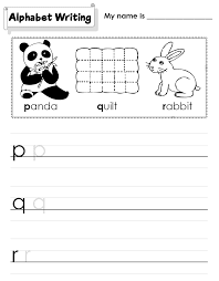 kindergarten worksheets alphabet printing tracing u0026 spelling