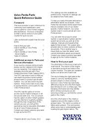volvo penta parts quick reference guide carburetor diesel engine