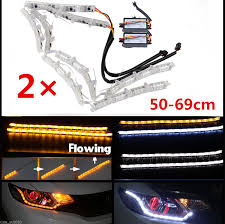 led strip lights headlights 2x switchback led strip light with sequential turn signal for