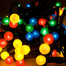 noma 5 85m length of 40 multi coloured indoor static berry lights