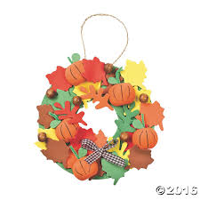 3d pumpkin wreath craft kit crafts for