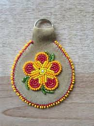 beaded key chain carmen dennis tahltan my arts and crafts