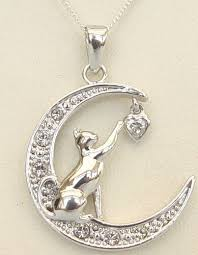 cat necklace silver images You touch my heart necklace jpg