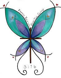 bright butterfly cross design by appleautumn on deviantart