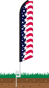 Stock Feather Flags Star Spangled Banner Swooper Feather Flag Flagdom