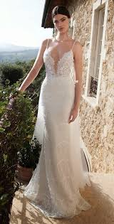wedding dress sheer straps picture of spaghetti lace wedding dress with a sheer bodice
