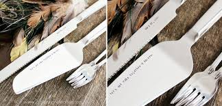 personalized wedding cake server u0026 knife set