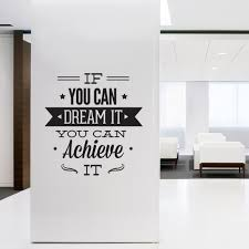 wall decal quotes wall art typographic sticker dream it achieve wall decal quotes wall art typographic sticker dream it achieve it decal for office decor inspirational quote