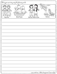 write your own story thanksgiving theme pilgrims turkey