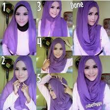 tutorial hijab pashmina tanpa dalaman ninja kumpulan gambar tutorial hijab modern casual simple