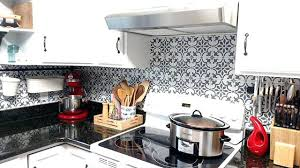 how to install backsplash tile in kitchen paint a worthy faux tile kitchen backsplash stencil