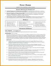 sample hr resume hr resume templates resume for a generalist in