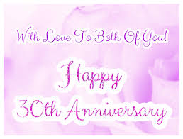 30 wedding anniversary wedding anniversary card happy 30th anniversary greetingshare