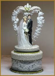 fleur de lis cake topper wedding minish designs