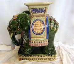 porcelain elephant ornate porcelain vietnamese elephant table