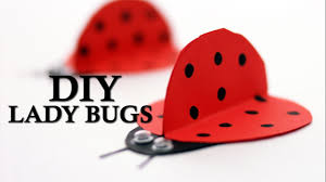 how to make cute ladybugs for diwali diy paper lady bugs youtube