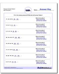 math worksheets patterns 4th grade spaceship koogra