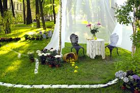 images lawn flower backyard wedding aisle ceremony picture with