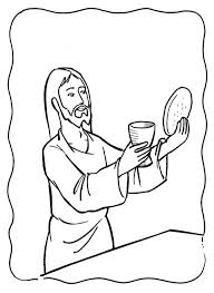 Last Supper Coloring Pages The Last Supper Coloring Page Jesus Last Supper Coloring Page