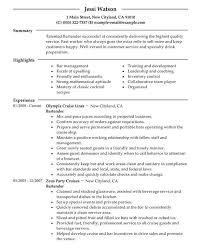 Sample Resume For Bartender by Bartender Resume Examples Resume Bartender Resume Objective