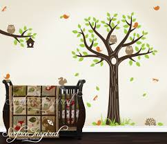 Tree Wall Decor For Nursery Bedroom Nursery Wall Decals With Tree Owl For Wall Tat Ideas