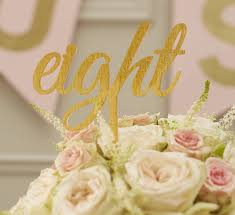 Gold Sparkle Acrylic Wedding Table Numbers By Ginger Ray