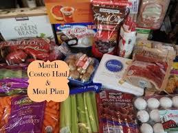 march costco safeway grocery haul two week meal plan