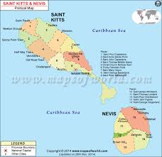 Map Of The Caribbean Islands by St Kitts And Nevis Map