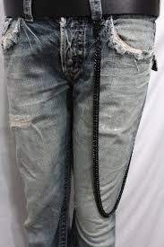 American Flag Jeans Black Metal Links Extra Long Wallet Chains Keychain Jeans Classic