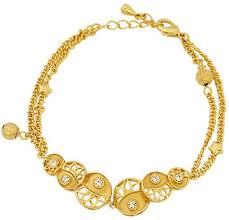 Buy Designer Gold Plated Golden Buy Golden Essentials 22k Gold Plated Elegant Summer Pearl Design