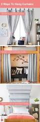 ways to hang curtains to make a ceiling curtain rod canopy for my bed without drilling