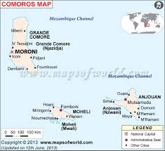 Blank Map Of Canada With Capital Cities by Map Of Comoros