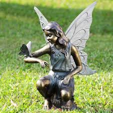 and butterfly grace garden statue
