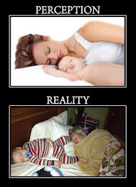 Sleeping Baby Meme - sleeping with baby the reality humor mom always finds out