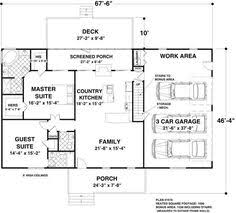 1500 sq ft ranch homes plans with side entrance garage house