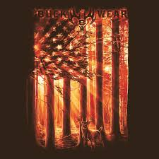 Flags And Things Buckwear American Outdoors Flag Deer T Shirt U2013 Jds Camo And Things