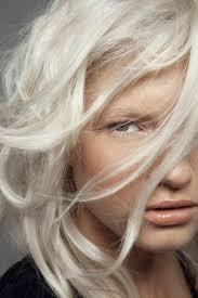 Hair Color For White Skin Platinum White Blonde Hair Velvety Skin Pale Peach Blush On