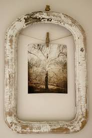 how to hang picture frames that have no hooks recycle a vintage frame hang picture using clothes pin on rope no